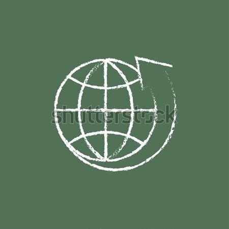 グローバル インターネットショッピング アイコン チョーク 手描き ストックフォト © RAStudio
