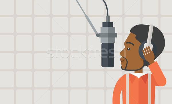 ラジオ ヘッドホン マイク ベクトル デザイン ストックフォト © RAStudio