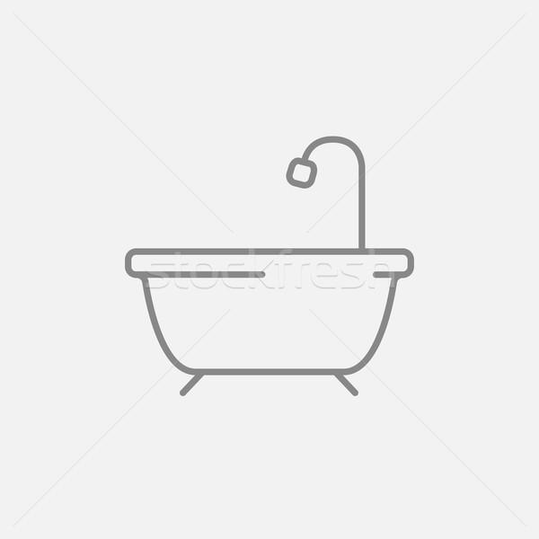 バスタブ シャワー 行 アイコン ウェブ 携帯 ストックフォト © RAStudio