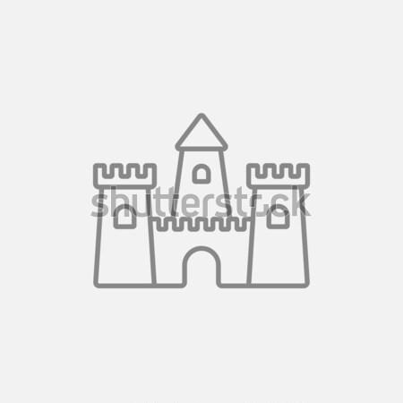 двухуровневый стробирующий импульс линия икона веб мобильных Инфографика Сток-фото © RAStudio