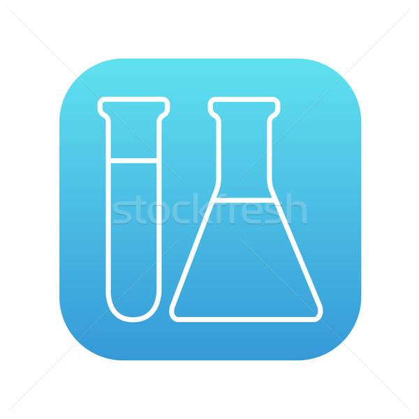 Stockfoto: Test · lijn · icon · web · mobiele