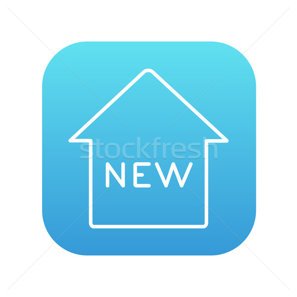 Stock photo: New house line icon.