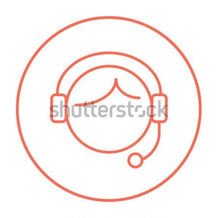 Stock fotó: ügyfélszolgálat · vonal · ikon · kezelő · háló · mobil