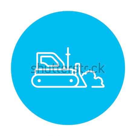 Bulldozer line icon. Stock photo © RAStudio
