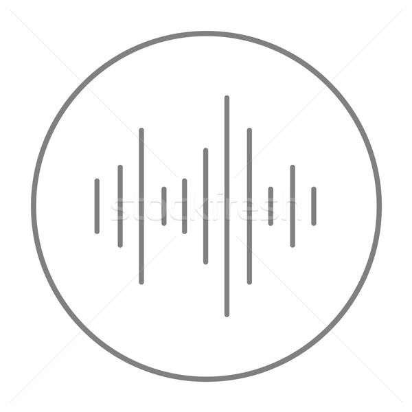 эквалайзер линия икона веб мобильных Инфографика Сток-фото © RAStudio