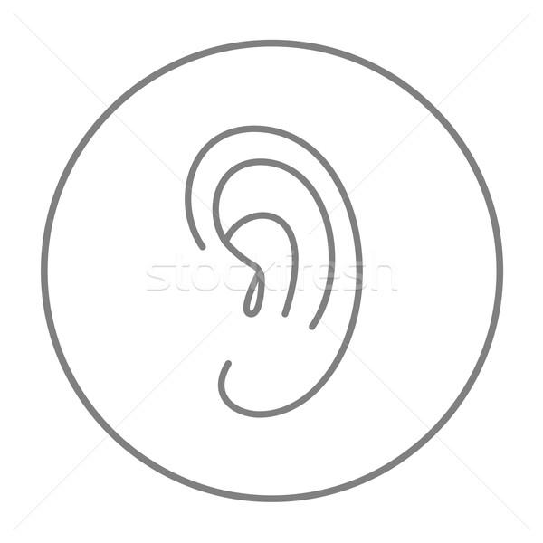 Human ear line icon. Stock photo © RAStudio