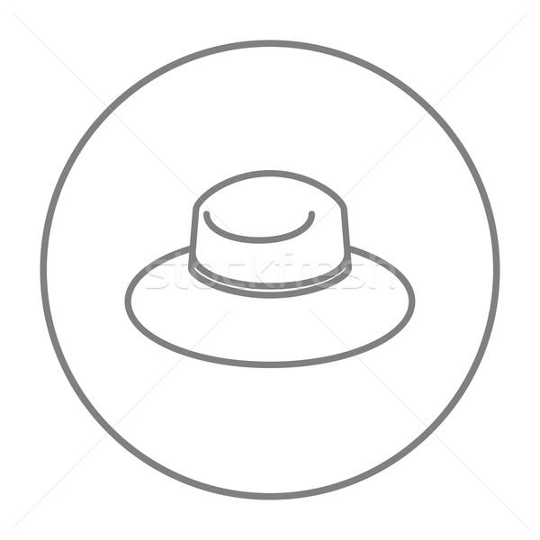 Summer hat line icon. Stock photo © RAStudio