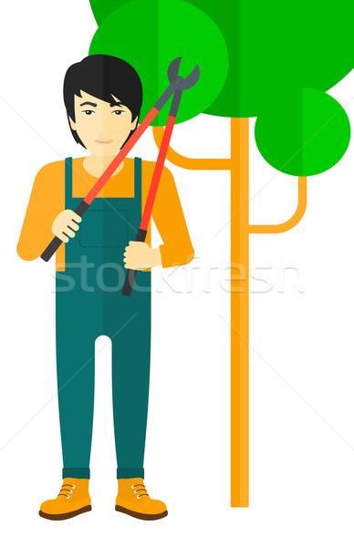 Farmer with pruner. Stock photo © RAStudio
