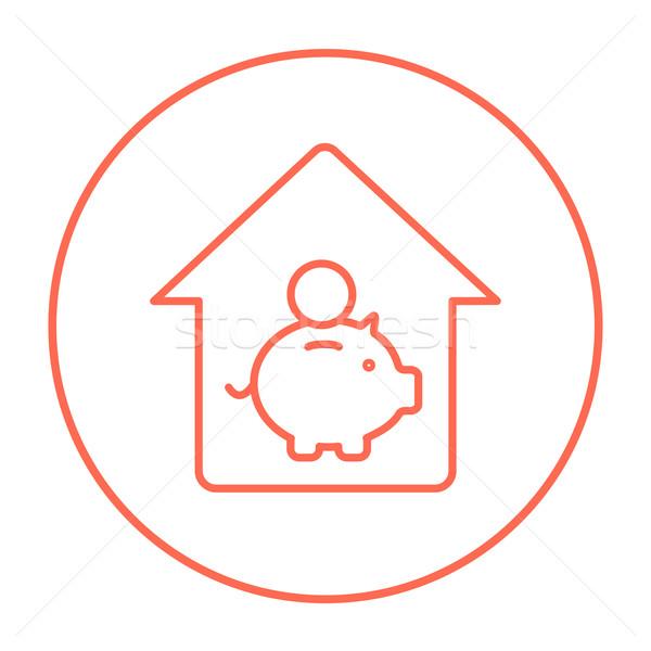 House savings line icon. Stock photo © RAStudio