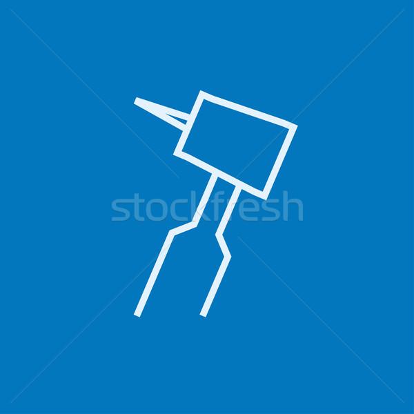 Stock photo: Dental drill line icon.
