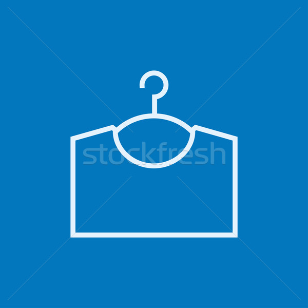 Sweater on hanger line icon. Stock photo © RAStudio