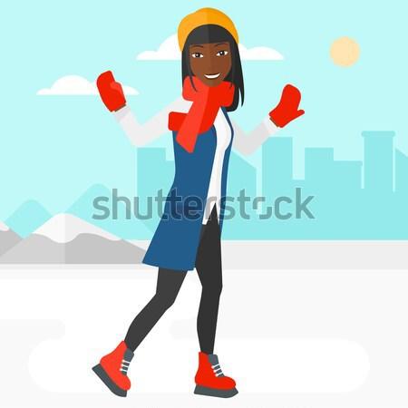 Woman ice skating. Stock photo © RAStudio