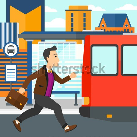 Man missing bus. Stock photo © RAStudio