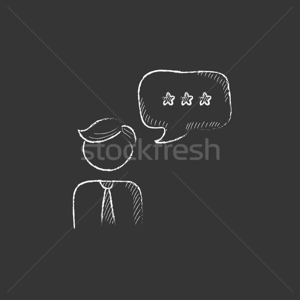 Stok fotoğraf: Müşteri · hizmetleri · tebeşir · ikon · operatör · konuşma