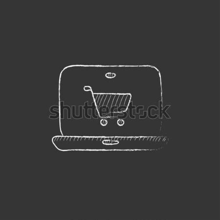 Online shopping. Drawn in chalk icon. Stock photo © RAStudio