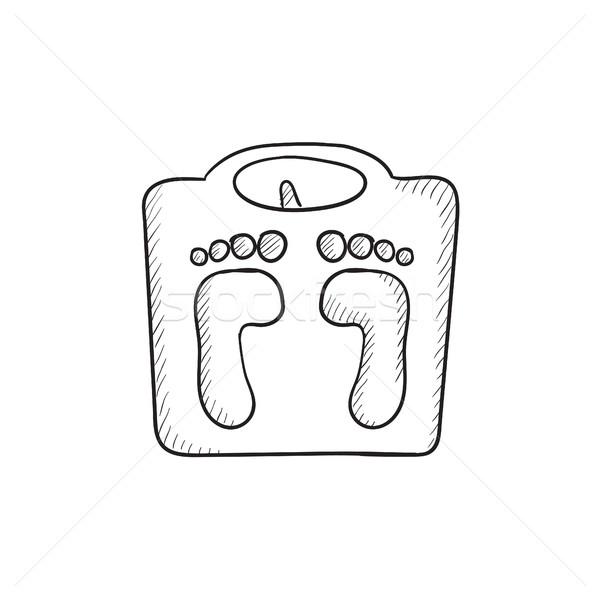 Weighing scale sketch icon. Stock photo © RAStudio