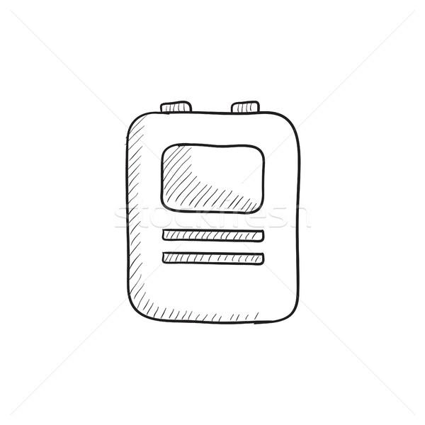 中心 除細動器 スケッチ アイコン ベクトル 孤立した ストックフォト © RAStudio