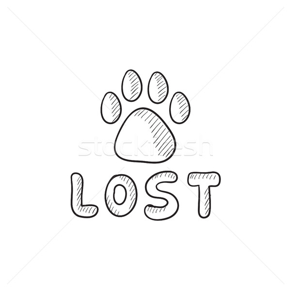 Lost dog sign sketch icon. Stock photo © RAStudio