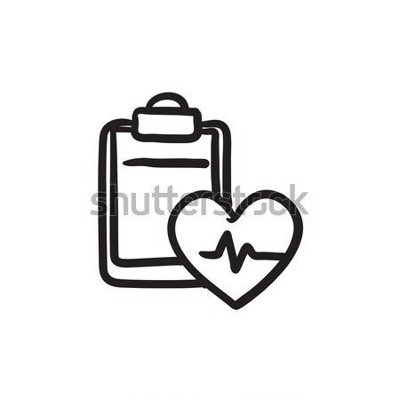 Heartbeat record sketch icon. Stock photo © RAStudio