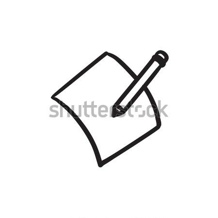 Pencil and document sketch icon. Stock photo © RAStudio