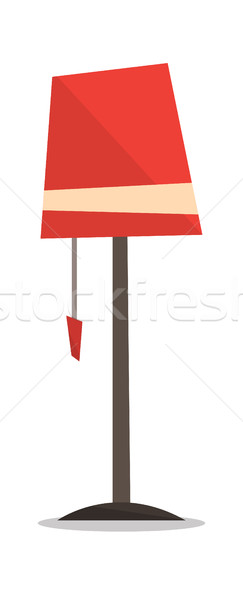 Red floor lamp vector illustration. Stock photo © RAStudio