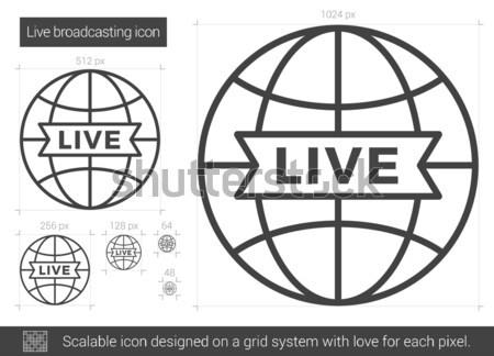Yaşamak yayın hat ikon vektör yalıtılmış Stok fotoğraf © RAStudio
