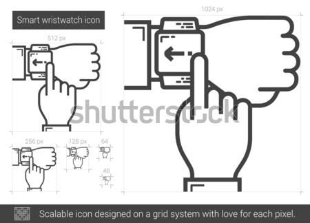 Akıllı hat ikon vektör yalıtılmış Stok fotoğraf © RAStudio