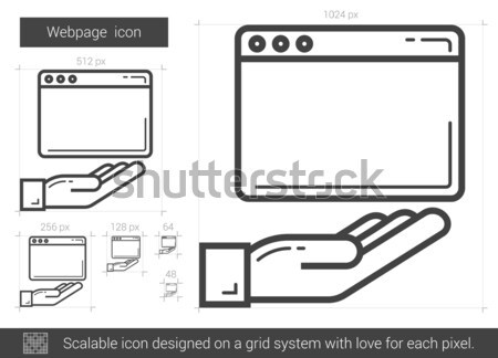 New tab line icon. Stock photo © RAStudio