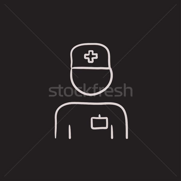 Nurse sketch icon. Stock photo © RAStudio