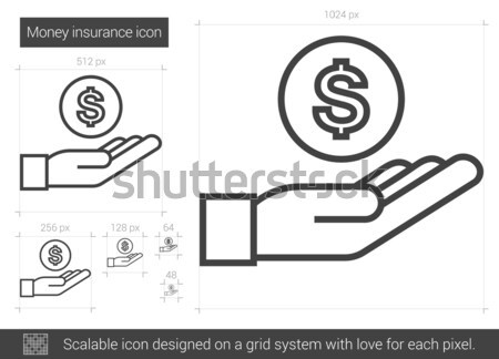 Money insurance line icon. Stock photo © RAStudio