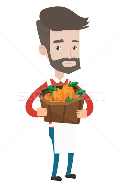 улице продавец плодов овощей кавказский зеленщик Сток-фото © RAStudio