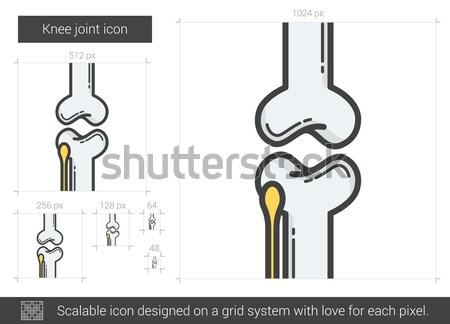 膝 ジョイント 行 アイコン ベクトル 孤立した ストックフォト © RAStudio