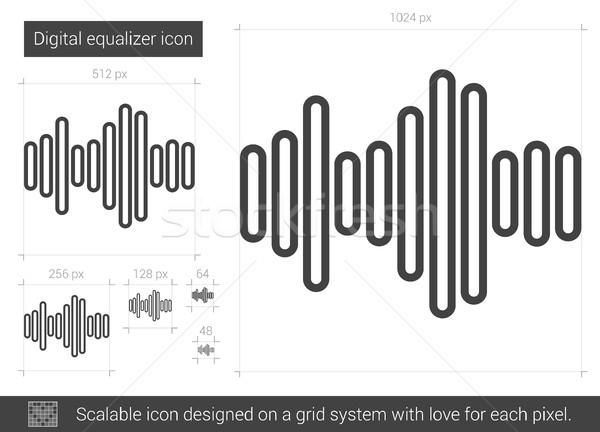 Cyfrowe korektor line ikona wektora odizolowany Zdjęcia stock © RAStudio