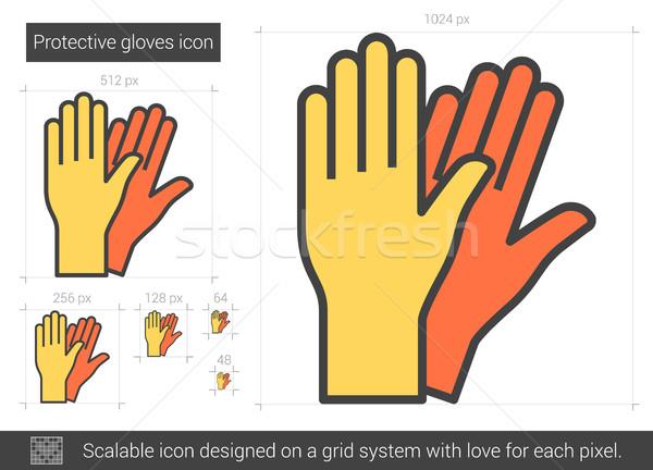手袋 行 アイコン ベクトル 孤立した 白 ストックフォト © RAStudio