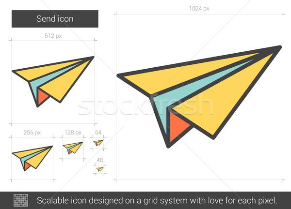 Enviar línea icono vector aislado blanco Foto stock © RAStudio