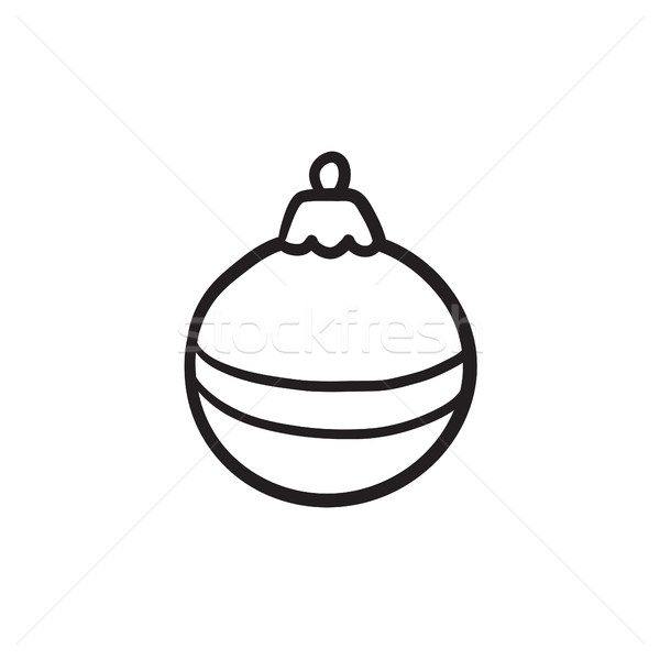 Christmas-tree decoration sketch icon. Stock photo © RAStudio