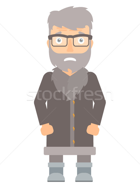 Embarrassed hipster north man vector illustration. Stock photo © RAStudio