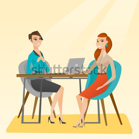 Job applicant having interview for the position. Stock photo © RAStudio