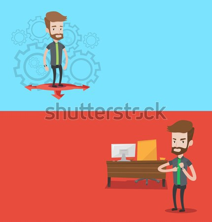 Two business banners with space for text. Stock photo © RAStudio