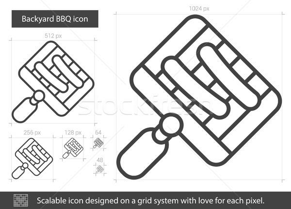 Bbq hat ikon vektör yalıtılmış Stok fotoğraf © RAStudio