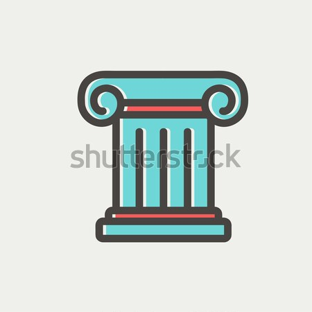 Antique column line icon. Stock photo © RAStudio