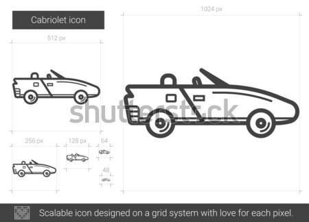 Kabriolet line ikona wektora odizolowany biały Zdjęcia stock © RAStudio