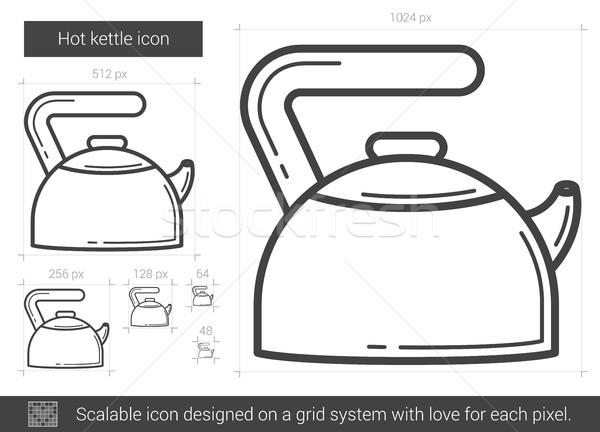 Hot kettle line icon. Stock photo © RAStudio