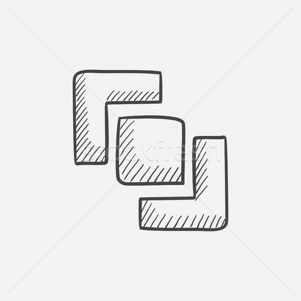 Divide sketch icon. Stock photo © RAStudio