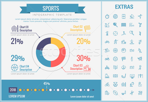 Sports infographic template, elements and icons. Stock photo © RAStudio