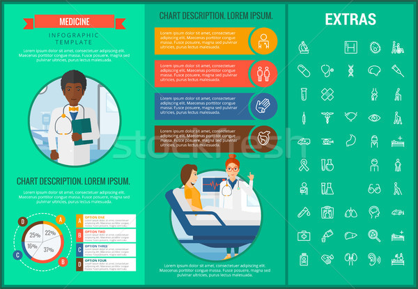 Stock photo: Medicine infographic template, elements and icons.