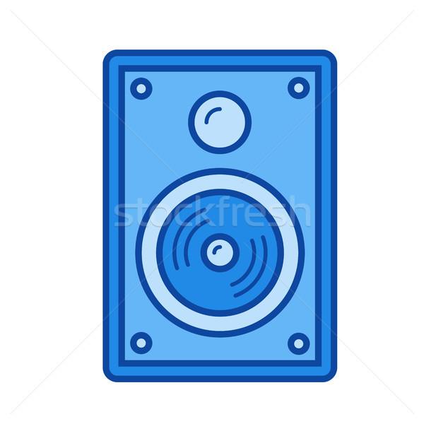 オーディオ スピーカー 行 アイコン ベクトル 孤立した ストックフォト © RAStudio