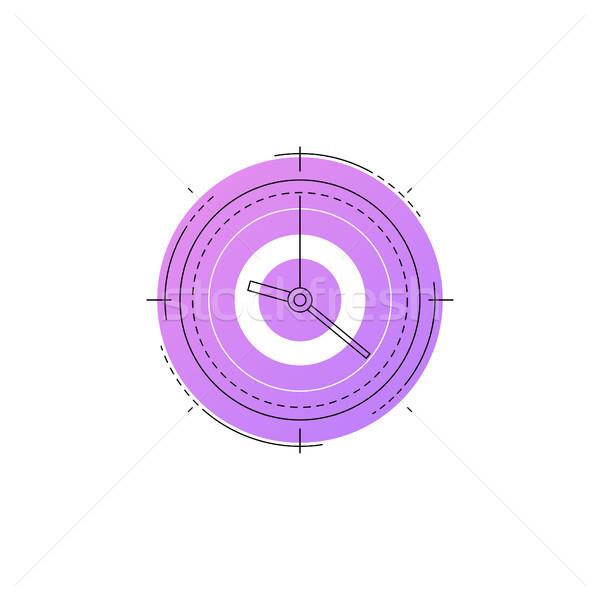 Neon clock vector line icon. Stock photo © RAStudio