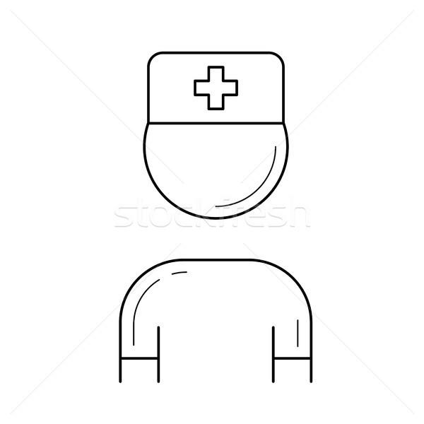 Nurse line icon. Stock photo © RAStudio