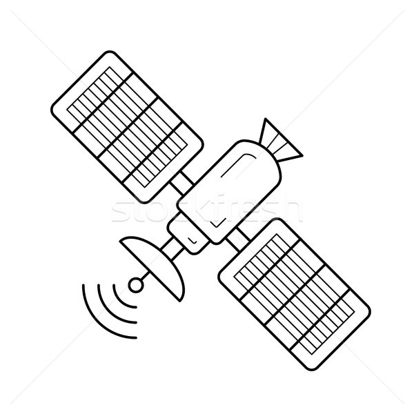 Satellite antenna line icon. Stock photo © RAStudio